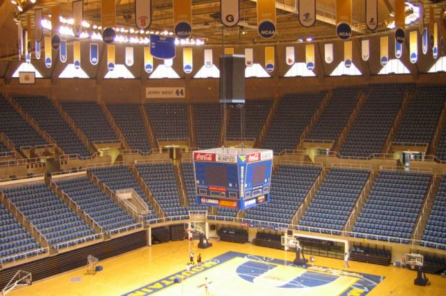Interior view of the WVU Coliseum in Morgantown, West Virginia. Photo courtesy of Greenstrat/Wikimedia