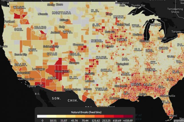 The U.S. COVID Atlas offers local snapshot of the potential impact of outbreaks, particularly in poor communities, experts said Wednesday.