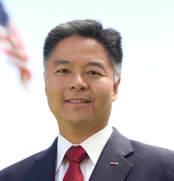 Rep. Ted Lieu, D-Calif., walked out of a moment of silence fot the victims of Sunday's mass shooting to make a statement about the lack of action on gun control. Photo by Ted Lieu/Facebook