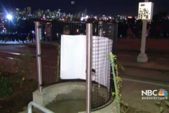 The new open-air urinal in San Francisco's Dolores Park. KNTV video screenshot