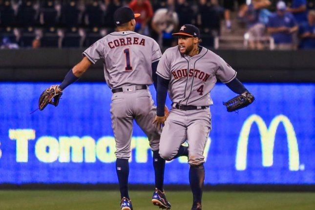 The Astros have had a lot to celebrate after beating Kansas City Monday night for their 11th straight victory. Photo courtesy Houston Astros/Twitter