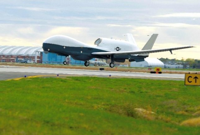 An MQ-4C Triton manufactured by Northrop Grumman and used by the U.S. Navy takes to the air with new radar. Photo courtesy U.S. Navy