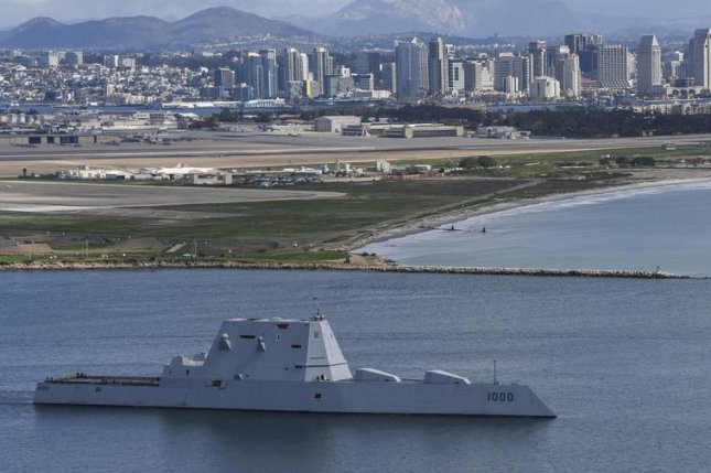 The guided-missile destroyer USS Zumwalt departs San Diego on Friday as part of an operational underway period. Photo by Mass Communication Spec. 2nd Class Natalie M. Byers/U.S. Navy