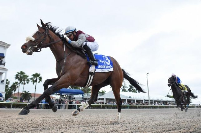 Tiz the Law moves forward on the Kentucky Derby trail with a victory in Saturday's Grade III Holy Bull Stakes at Gulfstream Park. Photo courtesy of Gulfstream Park