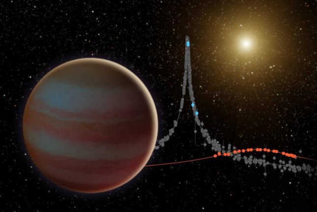 A microlensing event allowed scientist to see an elusive brown dwarf named OGLE-2015-BLG-1319. Photo by NASA/JPL