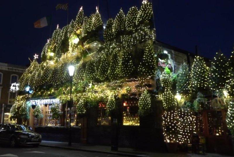 21000 christmas lights 90 trees adorn britains most festive pub
