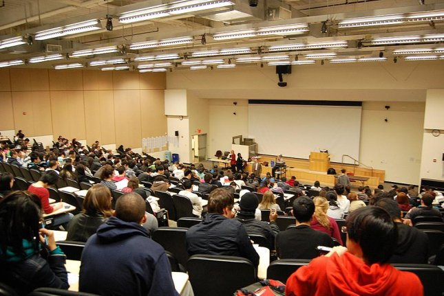 Concentrating during long lectures could get harder as CO2 levels rise. Photo by Wikimedia Commons