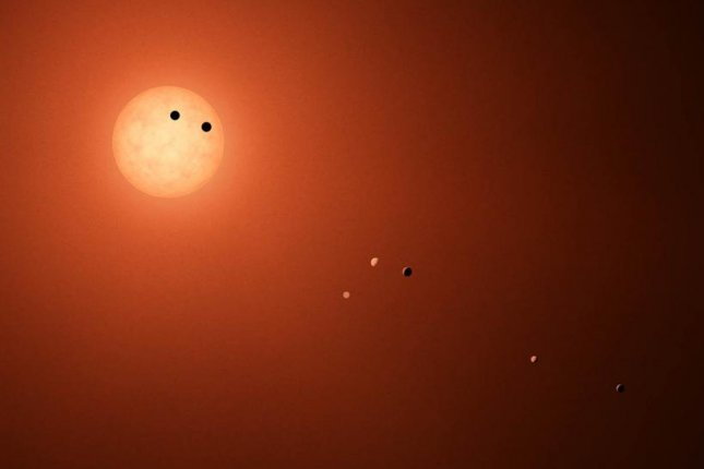 New research suggests six of the seven exoplanets in the TRAPPIST-1 system boast densities and compositions similar to Earth's. Photo by NASA