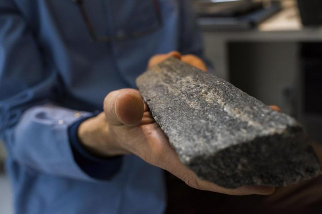 A sample from the oldest rock unit in the world, discovered in Canada. Photo by University of Alberta