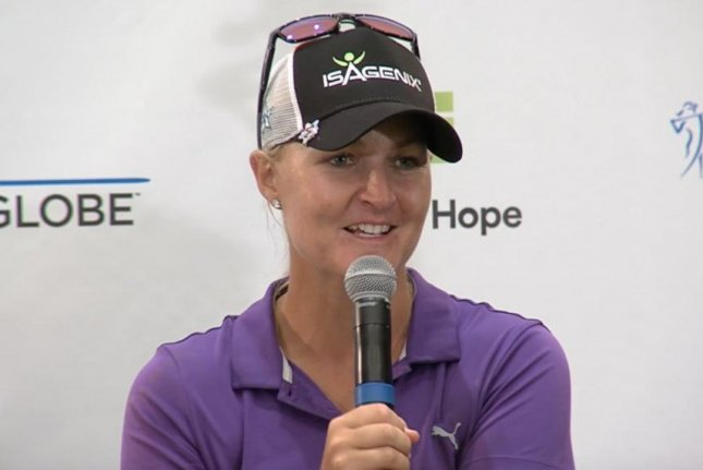 Anna Nordqvist, rolling in 26 birdies for the week, held off a host of low-shooting rivals to win the LPGA's Bank of Hope Founders Cup tournament Sunday at JW Marriot Desert Ridge. Photo via LPGA/Twitter