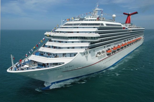 The Carnival Glory rescued a 33-year-old Norwegian Cruise Line Getaway crew member 22 hours after he was spotted falling overboard on Saturday. Photo courtesy Carnival Cruise Line