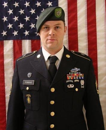 Sgt. 1st Class Elliot J. Robbins died Sunday will serving in Helmand Province, Afghanistan. Photo courtesy of U.S. Army Special Operations Command/Website