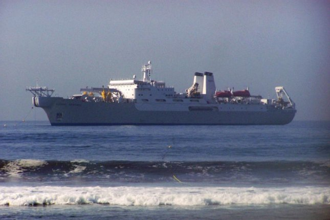 Under an $18.4 million contract modification awarded to Transoceanic Cable Ship, the CS Global Sentinel, pictured here, will lay and repair cable for the Department of Defense worldwide. Photo by Nc tech3/Wikimedia Commons