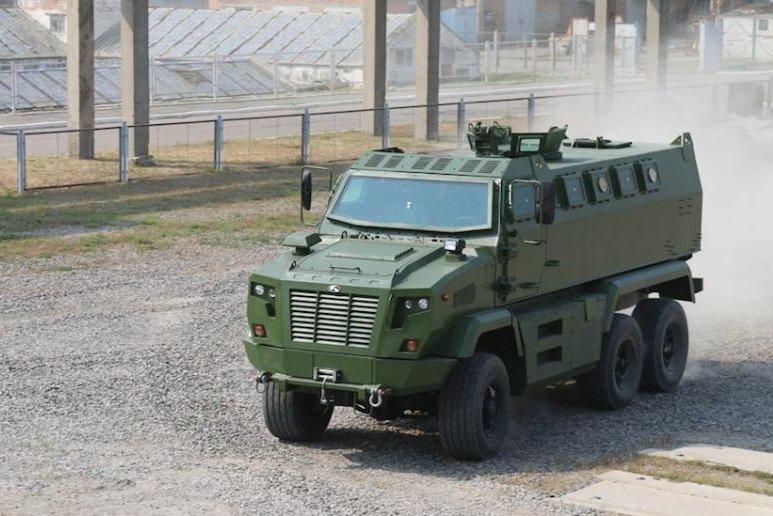Ukrainian company touts new armored vehicle