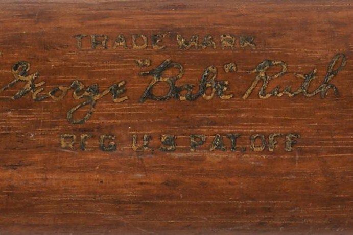Babe Ruth's 1931 signed Louisville Slugger bat. (Lelands.com)
