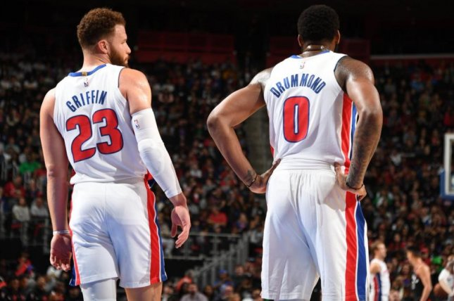 Pistons big man Blake Griffin will not take the court Monday night when Detroit takes on the Cavs in Clevealnd, as the Pistons will sit him to prepare for the team's playoff run. File Photo by NBA/Twitter