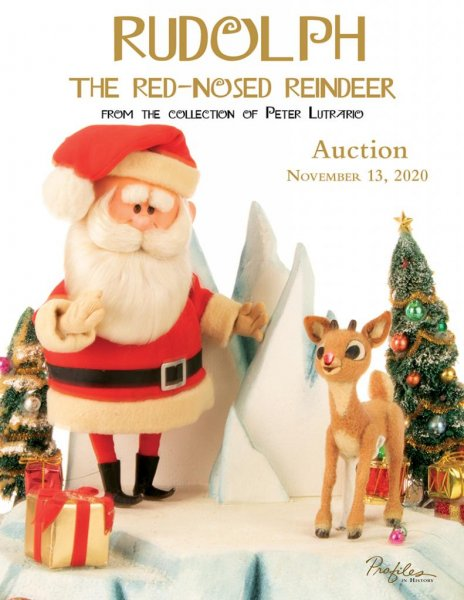 The Peter Lutrario collection of Rudolph the Red-Nosed Reindeer puppets will be auctioned on Nov. 13. Photo courtesy of Profiles in History auction house.