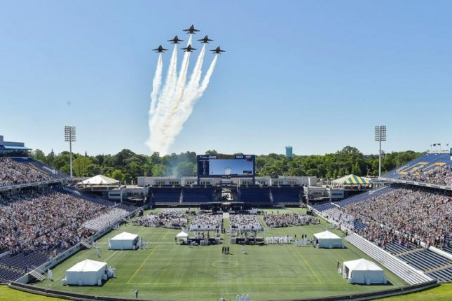 The U.S. Navy's Blue Angels flight demonstration team, here at a 2019 presentation, will retire its remaining F/A-18 Hornet fighter plane after a flight on Wednesday. Photo courtesy of U.S. Navy