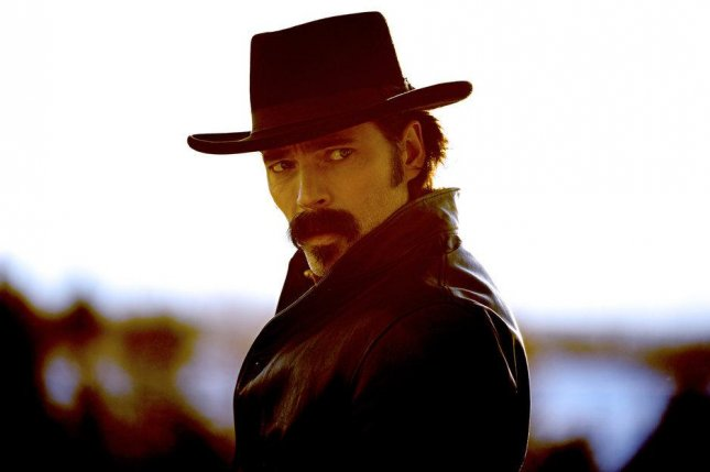 Tim Rozon stars in the supernatural western, Wyonna Earp. Photo courtesy of Syfy