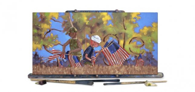 Google is presenting a painting by veteran Pete Damon in celebration of Veterans Day. Image courtesy of Google