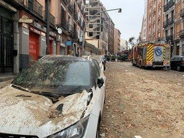 Emergency services said at least three people were killed and 11 were injured in the blast that rocked downtown Madrid on Wednesday. Photo courtesy of Emergencias Madrid/Twitter