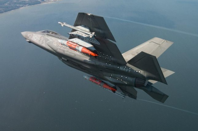 The final SDD Test flight CF-2 Flt 596 was piloted by BAE Test pilot Peter Wilson, April 11, 2018, from the F-35 Pax River Integrated Test Force. Photo courtesy of Lockheed Martin