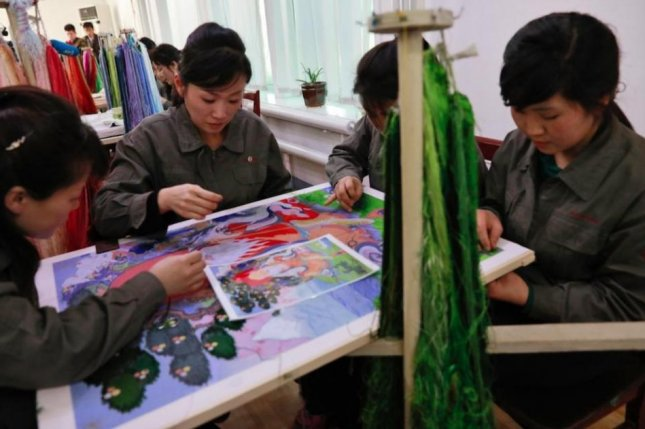 The works of North Korean artists are on sale in Chinese online marketplaces, according to a recent press report. File Photo by How Hwee Young/EPA