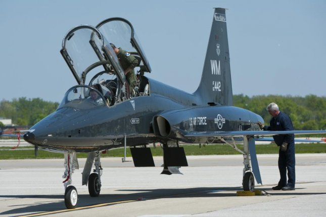 The Northrop Grumman-built T-38C Talon is a twin-engine supersonic jet trainer used for a variety of roles including pilot training. U.S. Air Force photo by Senior Airman Tristin English