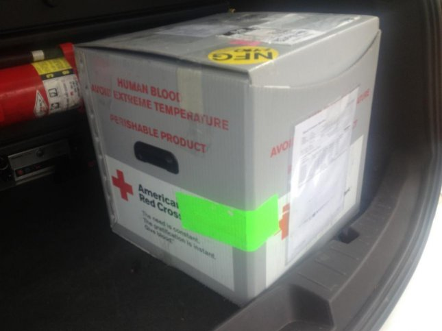 A 68-year-old man in Wisconsin helped return a box full of blood to his local American Red Cross location after finding it in the middle of a street. Photo by Madison Police Department