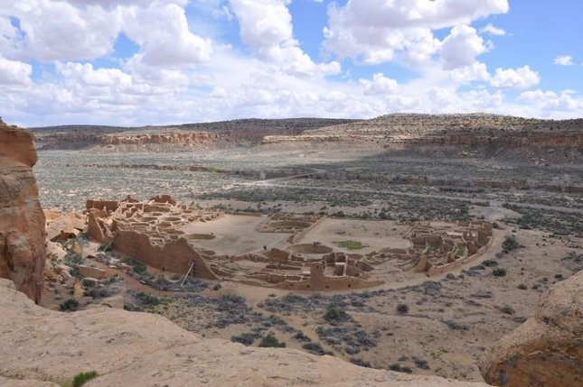 Pueblo Bonito, found in Chaco Canyon, New Mexico, was the epicenter of Chacoan culture. Photo by Douglas Kennett/Penn State University
