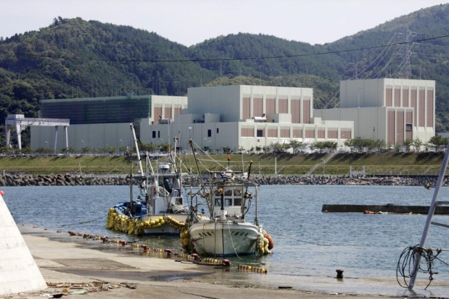 Tohoku Electric Power's Onagawa nuclear power plant is seen in 2011 after an earthquake and tsunami damaged one of its reactors. File Photo by Kimimasa Mayama/EPA-EFE