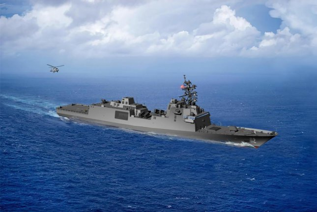 An artist's rendering of the guided-missile frigate FFG(X). Image courtesy of U.S. Navy