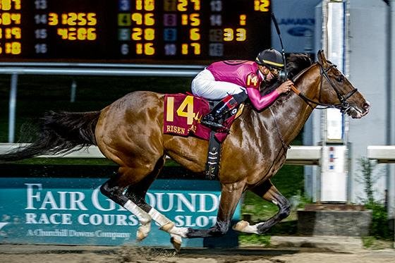 War of Will soars to the top of the Kentucky Derby points standings with a victory in the Risen Star Stakes at Fair Grounds. Fair Grounds photo
