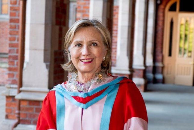 Hillary Clinton has become the 11th and first female chancellor of a university in Northern Ireland. Photo courtesy of Queen's University Belfast.