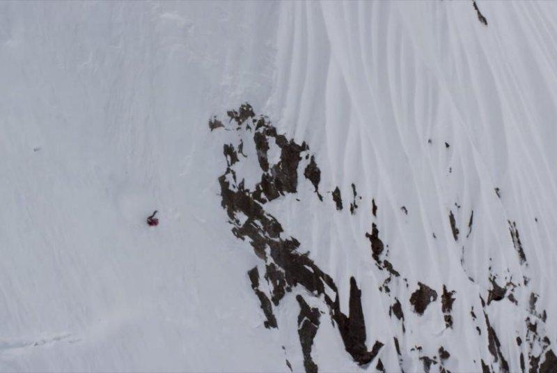Skier Angel Collinson falls more than 1,000 feet in Alaska's Neacola Range. Teton Gravity Research/YouTube video screenshot