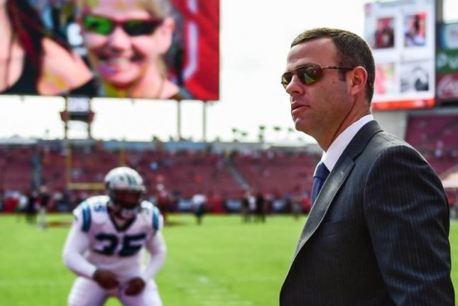 The Buffalo Bills have hired former Carolina Panthers assistant general manager Brandon Beane as their new general manager. Photo by Melissa-Melvin Rodriguez/Carolina Panthers via Buffalo Bills/Twitter