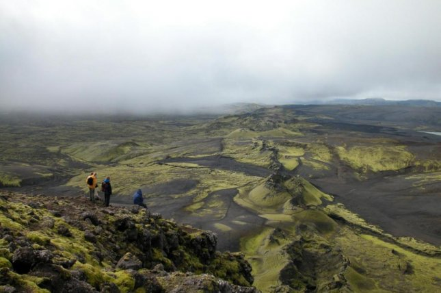 Iceland's Laki volcano doesn't look like the typical mountainous caldera. Photo by Alan Robock/Rutgers University-New Brunswick