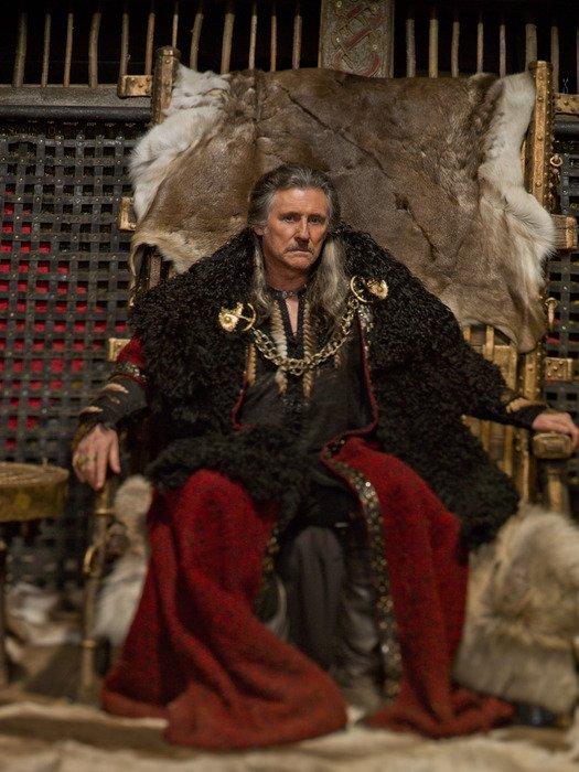 Photo of Vikings star Gabriel Byrne courtesy of History.