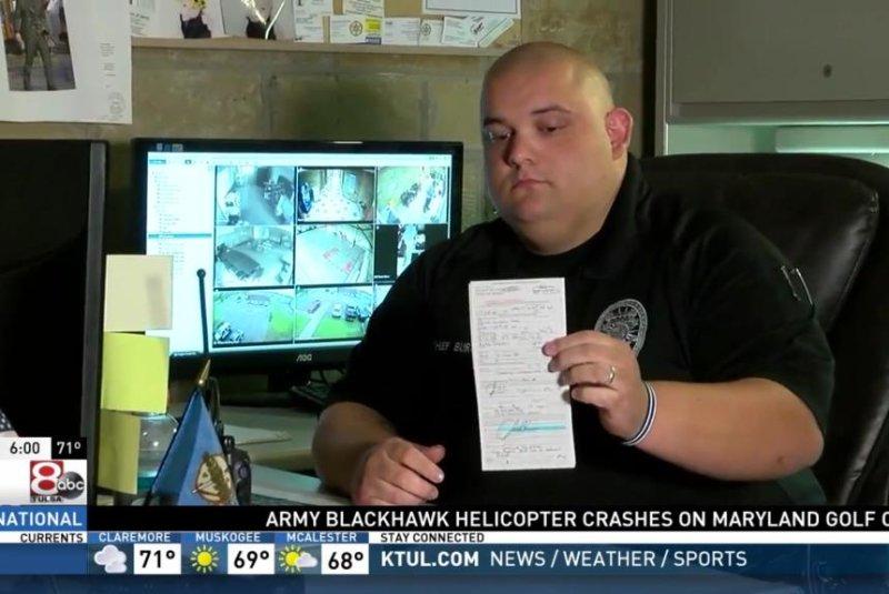 Oklahoma police chief caught speeding writes himself ticket
