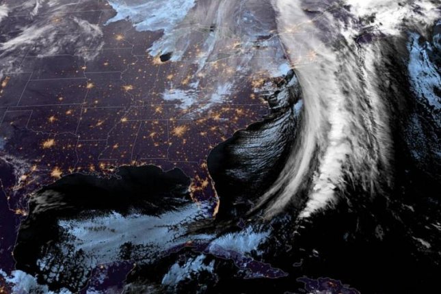 A winter storm swept across the Northeast Thursday night and Friday morning, knocking out power for more than 300,000 customers across the area. Image courtesy of NOAA