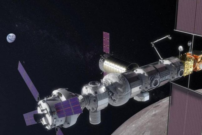 NASA Administrator Jim Bridenstine said the agency's planned Gateway project, a lunar-orbiting space station, will support future missions to the moon. Photo courtesy of NASA