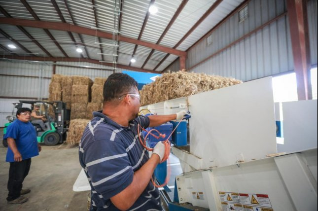 Hemp Inc.'s factory in Spring Hope , N.C., grinds hemp material down to a powder that is used to create bioplastics. Photo courtesy of Hemp Inc.