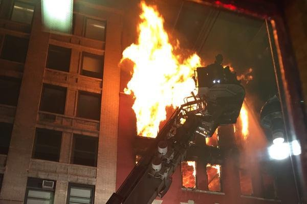 A M Ive Four Alarm Fire Consumed An Apartment Building Under Construction In The Chelsea Neighborhood Of Manhattan In New York City Officials Said