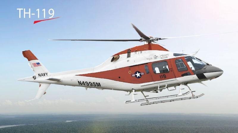 Leonardo-Finmeccanica's TH119 helicopter for the training of military pilots. Photo courtesy Leonardo