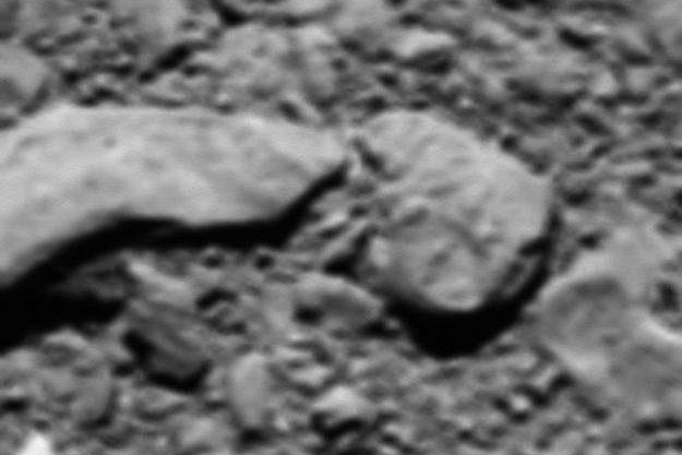 The last image snapped by the Rosetta probe's OSIRIS camera. Photo by ESA/Rosetta
