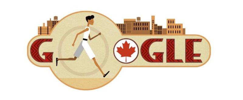 Google is paying homage to marathoner Tom Longboat with a new Doodle. Image courtesy of Google