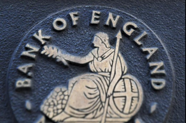 The Bank of England's monetary policy committee agreed Thursday to hold its rates at 0.75 percent, despite two members calling for a cut. Photo by Facundo Arrizabalaga/EPA-EFE