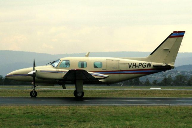 This Piper PA-31, VH-TWU is similar to a cargo plane flown by a Vortex Air pilot who fell asleep behind the cockpit and missed his destination by 28.6 miles in Austria. Photo by YSSYguy/Wikimedia Commons