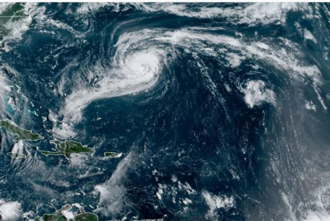 Rene weakened Saturday to a tropical depression in the Central Atlantic and was easy of Hurricane Paulette. Photo courtesy of NOAA