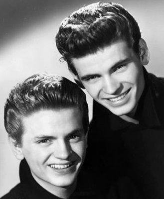 Phil Evelry, left, with brother Don in the 1950s.